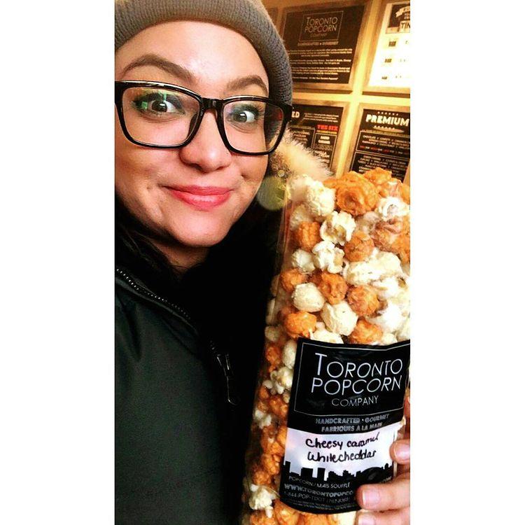 Andrea en el Toronto Popcorn Company de Kensington Market, en Toronto.